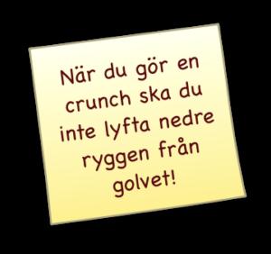hur man gör crunches